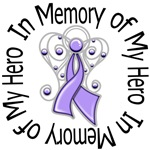 In Memory of My Hero - Cancer Angel Ribbon