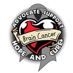 Brain Cancer Heart Ribbon