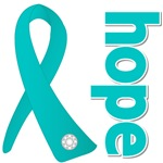 Hope Ribbon Ovarian Cancer Shirt and Gifts