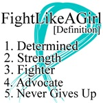 Ovarian Cancer Definition Fight Like a Girl Shirts