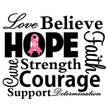 Breast Cancer Hope Collage Shirts