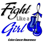 Fight Like a Girl Colon Cancer Shirts