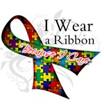 Ribbon Because I Care - Autism Shirts and Gifts