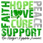 Collage Hope Cure Non-Hodgkin's Lymphoma Shirts