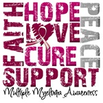 Collage Hope Cure Multiple Myeloma Shirts