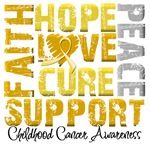 Collage Hope Cure Childhood Cancer Shirts
