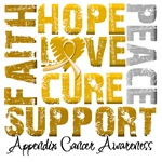 Collage Hope Cure Appendix Cancer Shirts