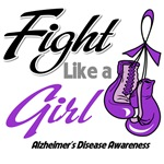 Alzheimers Disease Boxing Gloves Fight Like a Girl