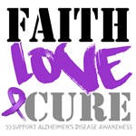 Faith Love Cure Alzheimer's Diease Shirts and Gift