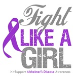 Fight Like a Girl Ribbon Alzheimer's Disease Shirt