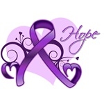 Hope Alzheimer's Disease Ribbon Shirts and Gifts