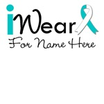 Personalize I Wear a Ribbon Cervical Cancer Shirts