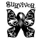 Floral Butterfly Skin Cancer Survivor Shirts