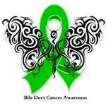 Bile Duct Cancer Tribal Butterfly Shirts