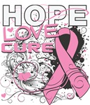 Hope Love Cure Splash - Breast Cancer Shirts