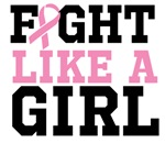 Pink Ribbon Fight Like a Girl Breast Cancer Shirts