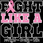 Fight Like a Girl Breast Cancer Awareness Shirts