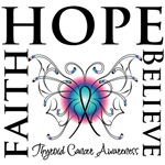 Faith Hope Believe Thyroid Cancer Shirts