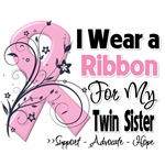Twin Sister Pink Ribbon Breast Cancer Shirts