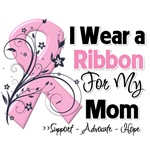 Mom Pink Ribbon Breast Cancer Shirts