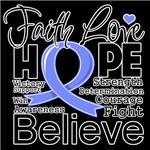 Faith Hope Stomach Cancer Shirts