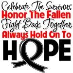 Melanoma Celebrate Honor Fight Hope Shirts