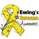Ewing Sarcoma Yellow Ribbon Flower Awareness Shirt