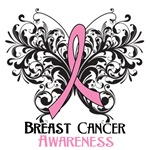Butterfly Floral Breast Cancer Shirts and Gifts