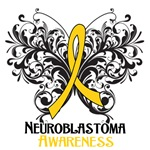 Butterfly Floral Neuroblastoma Shirts