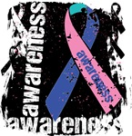 Thyroid Cancer Awareness Grunge Ribbon Shirts