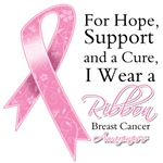 Breast Cancer For Hope Support and Cure Shirts
