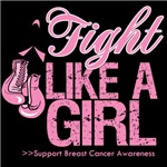 Fight Like a Girl Gloves On Breast Cancer Shirts
