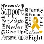 Appendix Cancer Supportive Words Shirts