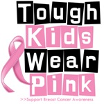Funny Tough Kids Wear Pink Breast Cancer Shirts