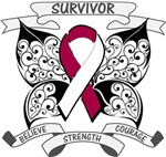 Head Neck Cancer Survivor Butterfly Shirts