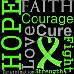 Hope Faith Courage Lymphoma Shirts