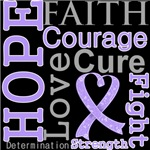 Hope Faith Courage General Cancer Shirts
