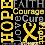Hope Faith Courage Childhood Cancer Shirts
