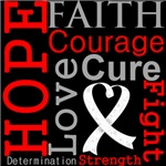 Hope Faith Courage Bone Cancer Shirts