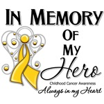 In Memory of My Hero Childhood Cancer Shirts