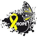 Hope Grunge Butterfly Testicular Cancer Shirts