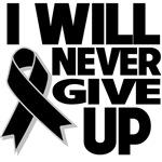 I Will Never Give Up Melanoma Shirts