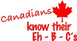 Canadians know their eh - B - C's