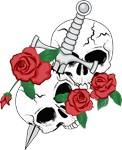 Skull, Roses and Dagger