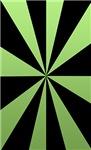 Green and Black Pinwheel