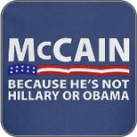 John McCain: Not Hillary or Obama