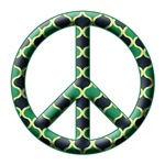 Peace Sign Vintage Silhouette