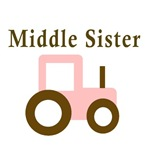 Middle Sister - Pink/Brown Tractor