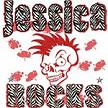 Jessica Rocks Skull with Mohawk