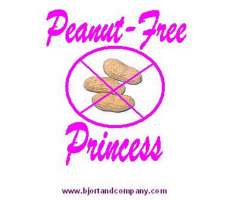 Peanut-Free Princess T-Shirts/Accessories